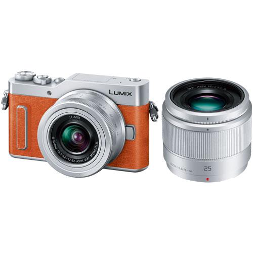 【納得の3年保証付き】[パナソニック]LUMIX DC-GF10W-D ダブルレンズキット オレンジ