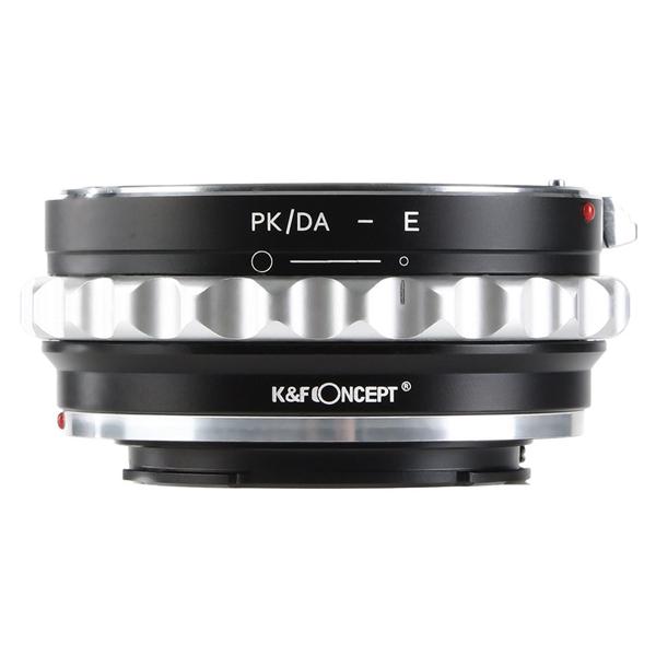 KF CONCEPT KF-DAE 大注目 レンズマウントアダプター レンズ側:ペンタックスKマウント→カメラ側:ソニーE オリジナル