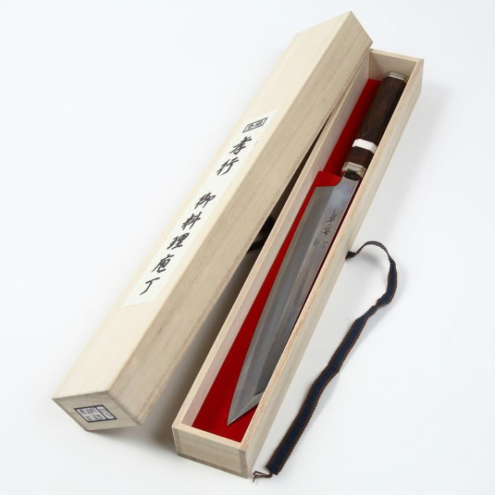 堺孝行 紫電 剣型柳刃 300mm