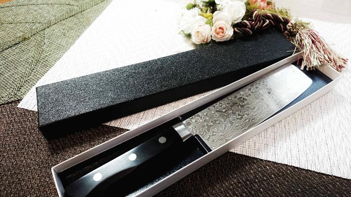 堺孝行 ダマスカス45層鋼ミラー 菜切 160mm 即納