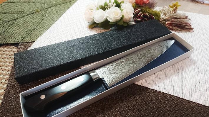 堺孝行 ダマスカス45層鋼ミラー 牛刀 210mm 即納