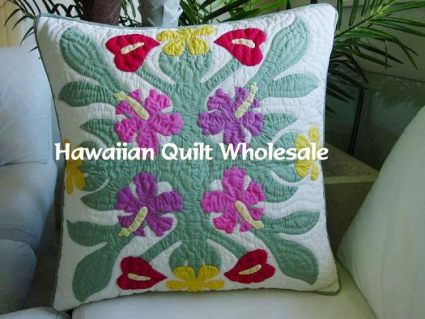 簡単製作 しつけまで済んでいるハワイアンキルト製作キット 9 10ポイント5倍デー 完成品ではございません ハワイアンキルト キット 初心者 製作 アウトレットセール 特集 ソファー ハワイ ハワイアンキルトクッションカバー 作製 クッションカバー hk10049 hawaii Hawaii 高級な