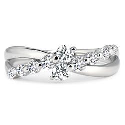 プラチナ 送料無料 ダイヤモンド アニバーサリー テンミワホウセキ 10周年記念 ギフト包装無料 ダイヤモンド0.5カラット プラチナダイヤリング リング テン 日本全国 百貨店 10石のダイヤモンドに想いを込めてプラチナ