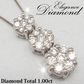 ダイヤ 定番から日本未入荷 1カラットダイヤ miwahouseki smtb-ms 送料無料 K18ホワイトゴ-ルドエレガント1カラットダイヤモンドペンダント 10SHI-QSHU 国内在庫