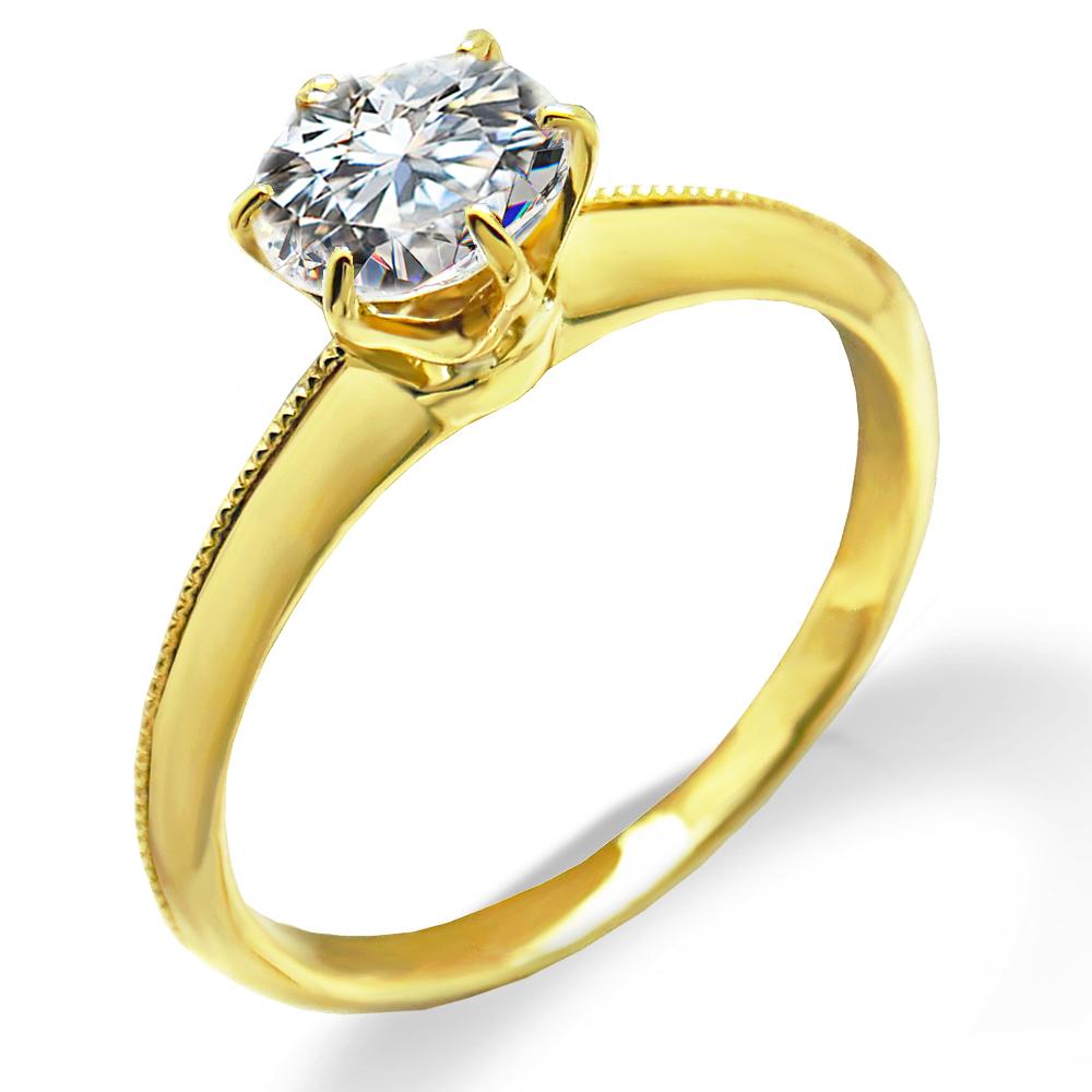 婚約指輪 送料無料 鑑定書付 ダイヤリングK18 ゴールド クラシカル リング人気の プロポーズ エンゲージリング VS1 SALE クラシカルライン リング大粒 日本全国 ダイヤモンド 0.5カラット Fカラー 無色透明 最高の輝きを放つトリプルエクセレントカット