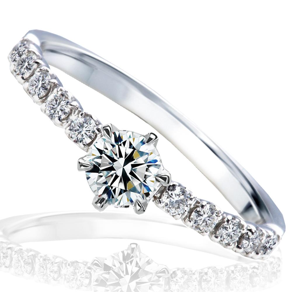 婚約指輪 プロポーズ リング プラチナ0.3カラット Gカラー VS2最高の輝きを放つトリプルエクセレントカット ダイヤモンド 送料無料