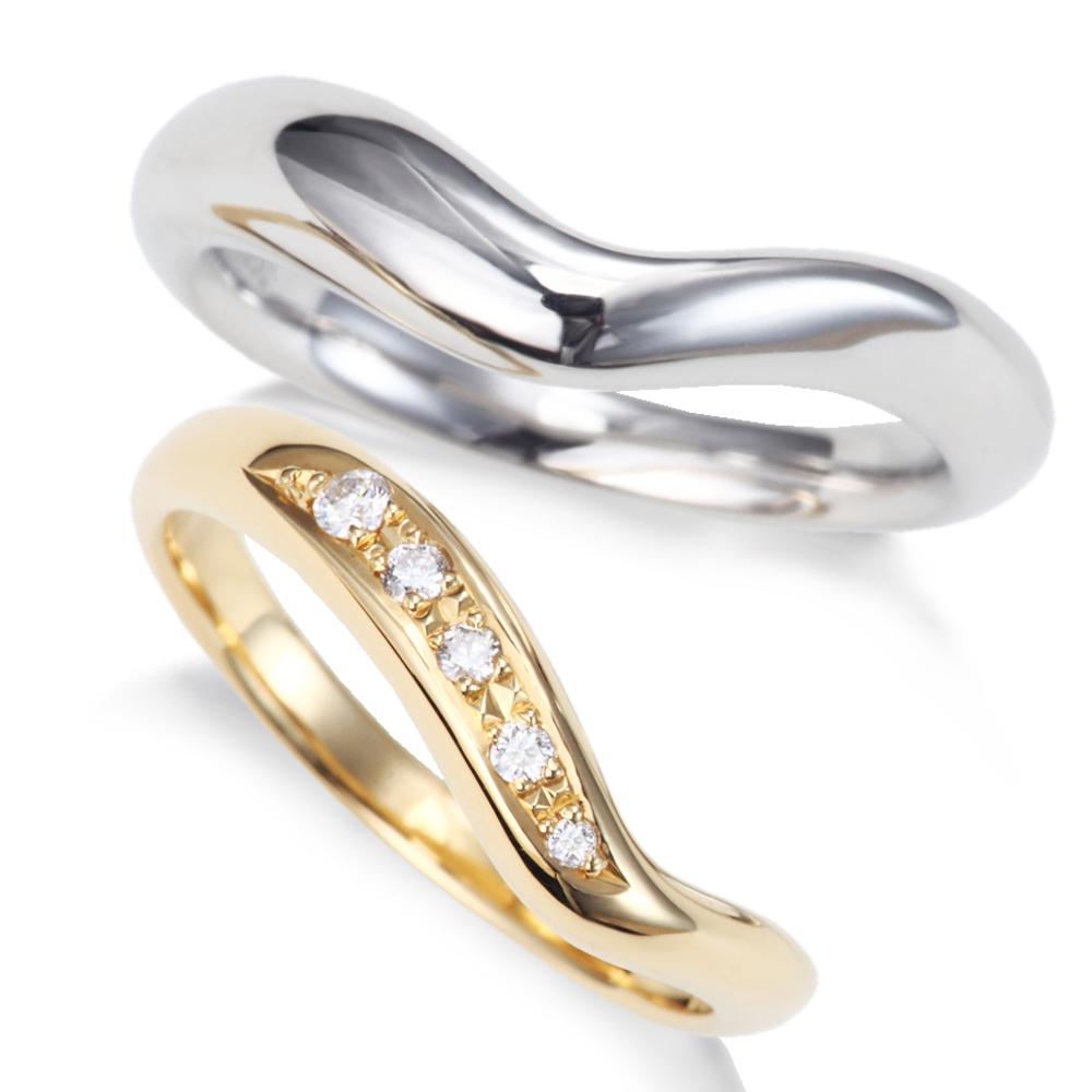 片側 ぷっくり ライン プラチナ ゴールド ダイヤモンド 結婚指輪 マリッジリング ペア 1年以内1回サイズ直し無料対応付き 文字入れ無料 無料対応付き サイズ直し1回 miwahouseki 送料無料 チープ 美輪宝石 爆買い送料無料 ミワホウセキ