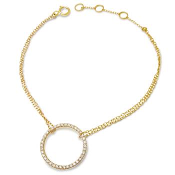 K18 イエローゴールド VSクラス ダイヤモンド を厳選使用した 美しく輝く 人気のブレスレット クラシカル サークルデザイン ブレスレット 手首のジュエリー 大切な方へのプレゼントギフトや自分へのご褒美ジュエリーにおすすめ!