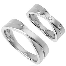 ペアリング 人気ブランド miwahouseki 結婚指輪 トラスト シルバ-925クロスライン 送料無料 smtb-ms