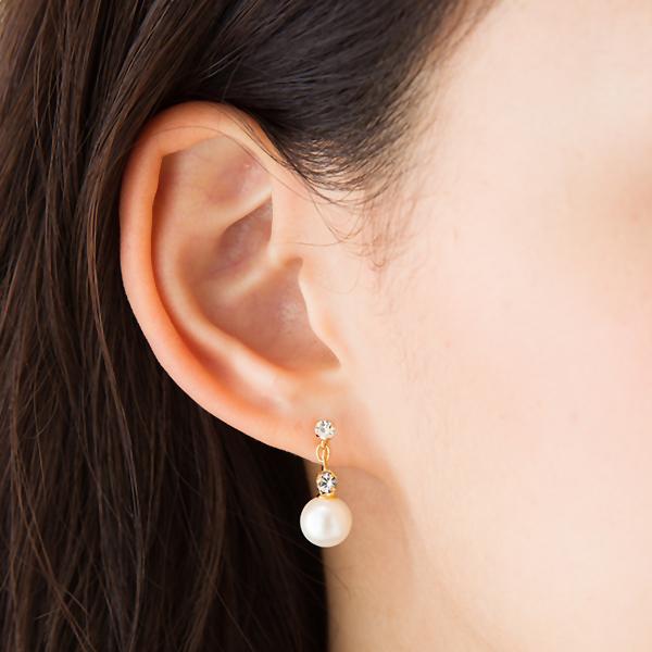 Direct Access Non Hall Swarovski 8 Mm Pearl Earrings