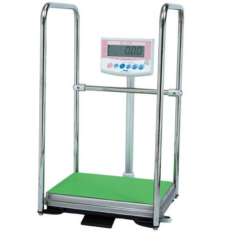 手すり付デジタル体重計 150kg DP-7101PW-T 検定品 大和製衡