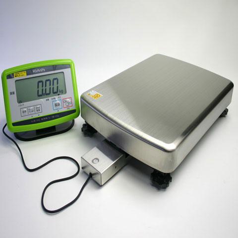 デジタル台はかり(ベーシック型)セパレート型(ケーブル約0.9m) 120kg KL-BF-N120AH-S 無検定品 クボタ