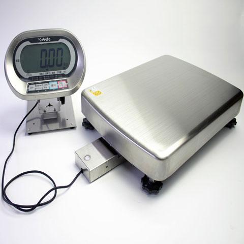 防水型デジタル台はかり セパレート型(ケーブル約1.4m) 400kg KL-IP-N400BH-S 無検定品 クボタ