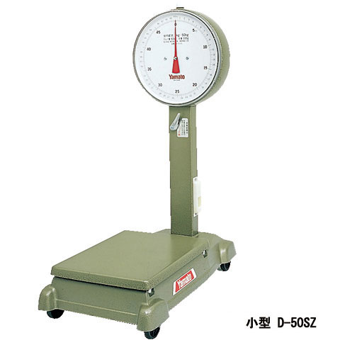 小型自動台はかり車付き 100kg D-100SZ 検定品 大和製衡