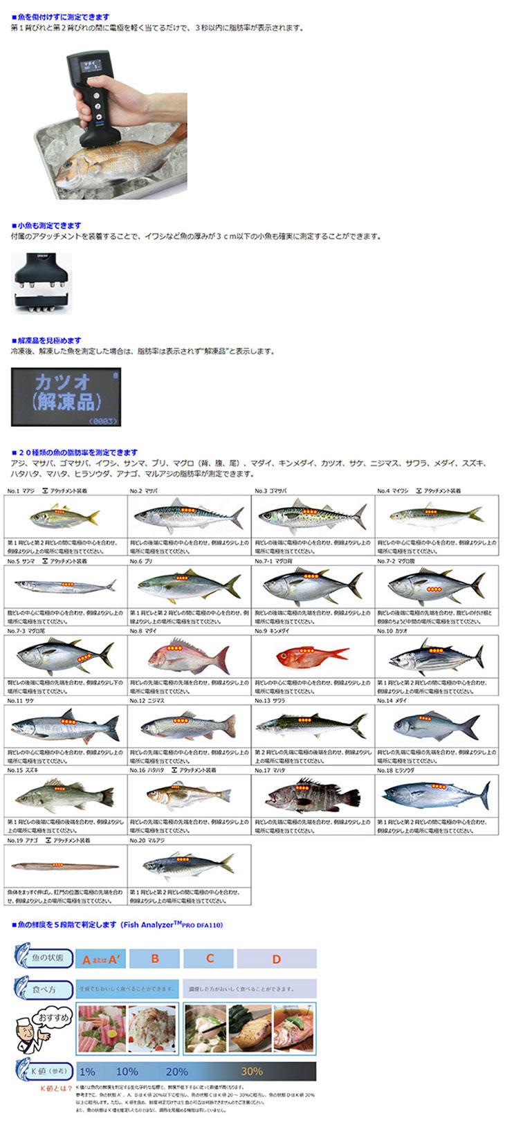 魚用体脂肪計 フィッシュアナライザ プロ DFA110 Ver.1.00 大和製衡