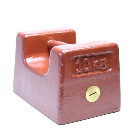 鋳鉄製枕型分銅 M2級(3級) 10kg