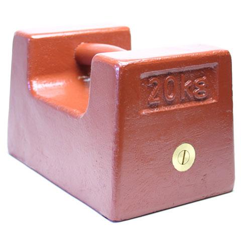 鋳鉄製枕型分銅 M2級(3級) 20kg