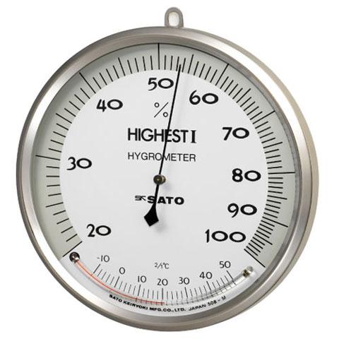 湿度計(温度計付き) ハイエスト1型 佐藤計量器