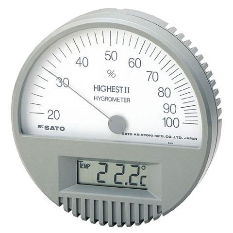 湿度計(温度計付き) ハイエスト2型 佐藤計量器