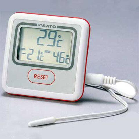 本体内蔵センサと外部センサの2タイプを切り替えて使用が可能現在温度と一定期間内の最高温度 最低温度を同時に表示 デジタル最高最低温度計 大幅にプライスダウン PC-3500 佐藤計量器 ファクトリーアウトレット