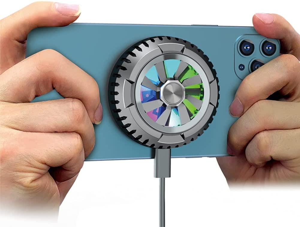 X6 スマホ 冷却ファン 冷却クーラー ペルチエ素子 磁気吸着式 スマホ散熱器 携帯電話 迅速な対応で商品をお届け致します クーラー 発熱対策 MagSafe機種適合 iPhone 中古 小型 Android USB給電式 対応 静音 iPad