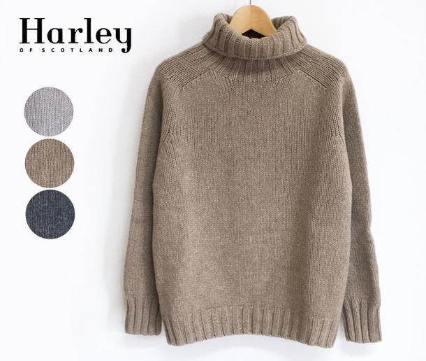 Harley of Scotland ハーレーオブスコットランド タートルネック セーター (L3781/5)