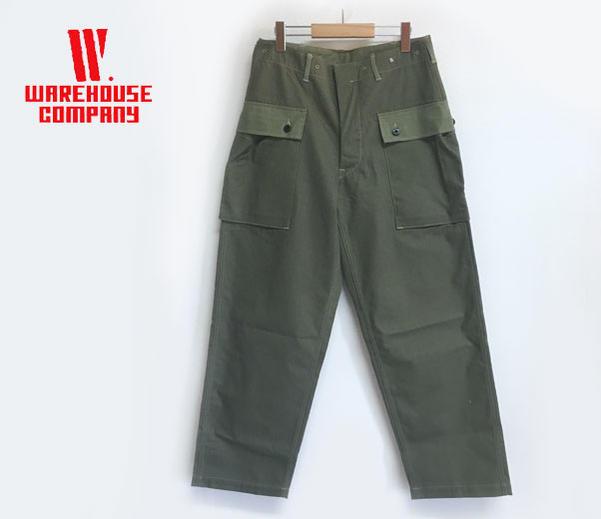 WAREHOUSE ウエアハウス 1097 USMC HERRINGBONE MONKEY PANTS ヘリンボンツイル モンキーパンツ