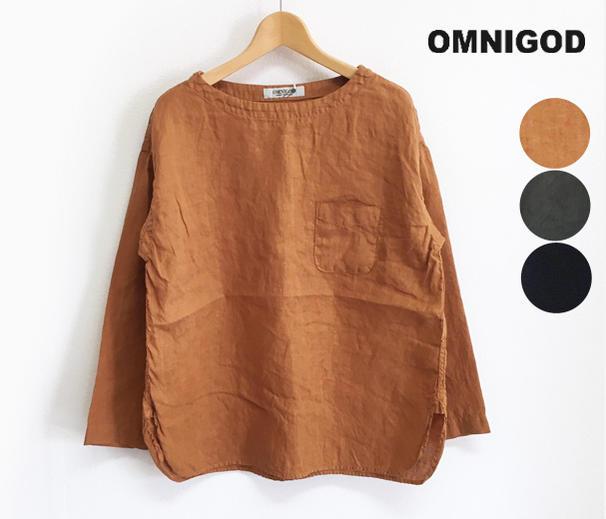 OMNIGOD オムニゴッド リネンキャンバス プルオーバーシャツ(56-865X レディス)