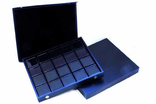 ディスプレイケース ジュエリーボックス 24個 スモールケール付き ブラック ベルベット 収納 ピアス 指輪 イヤリング ネックレス ペンダント ボディピアス アクセサリー ホワイト 白色 黒色 ブラック ディスプレイ ショーケース 業者 店舗 撮影用 ギフトボックス