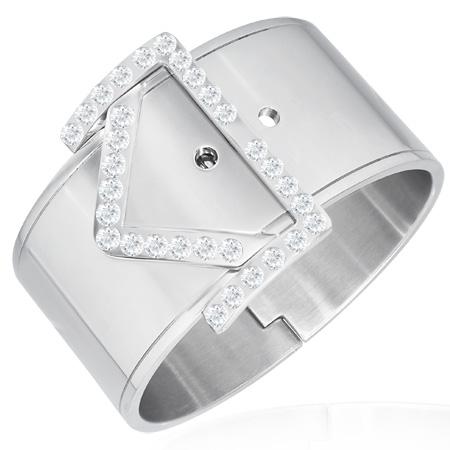 ジュエルベルト ステンレス バングル アームレット 腕輪 サージカルステンレス316L メンズ レディース 手首 アクセサリー 二の腕 腕 ブレスレット 固定型 リング型 楕円形 プレゼント ギフト ワイド おもしろ バックル ブランド 結婚式 パーティ 2次会 お呼ばれ