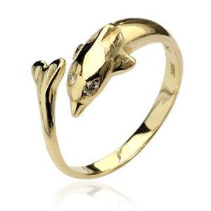 10金ドルフィントゥリング K10 本物の金の指輪 イエローゴールドリング 10金リング 足の指輪 トーリング 足のリング フォークリング ピンキーリング フリーサイズ レディース イルカ チップリング ミディリング ファランジリング サイズが小さい 小指 関節 指先 小さめ 夏