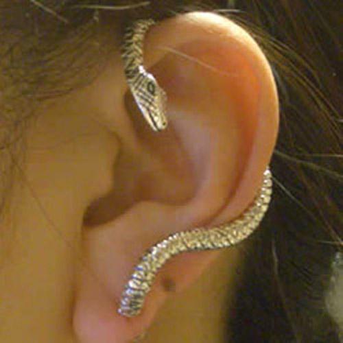 メデューサ イヤーフック シルバーピアス:1個販売 蛇 へび スネイク スネーク 18G 18ゲージ シルバー925 スターリングシルバー イヤーカフ ピアス おもしろ 面白い ユニーク メンズ レディース 高級 スタッドピアス オリジナル 耳にかける 個性