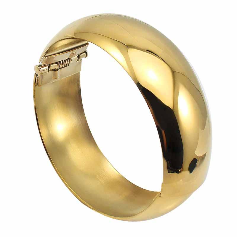 ゴールドワイド甲丸リングバングル 金色 シンプル プレーン 腕輪 サージカルステンレス316L アームレット ステンレスバングル メンズ レディース 二の腕 低アレルギー 高級 ステンレスアクセサリー 手首 ステンレスブレスレット ペア ワイド 幅あり 大人 プレゼント