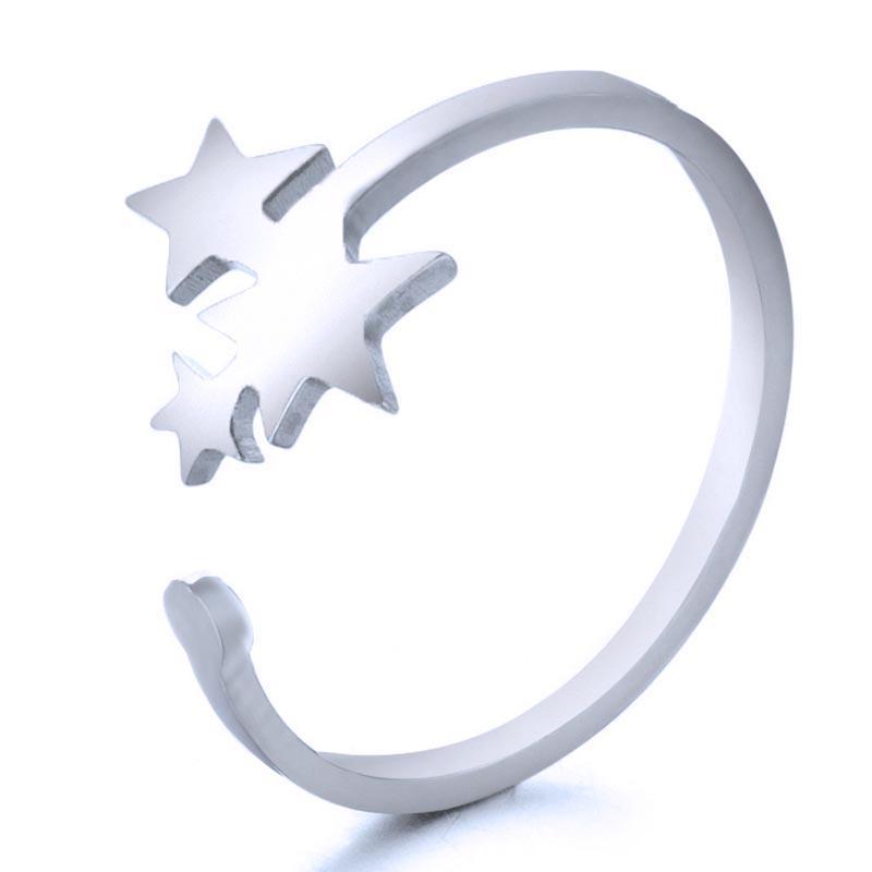 親指 中指 薬指 小指 人差し指 おしゃれ 人気 足指 オシャレ フリーサイズ ステンレスリング トリプルスターファランジリング トゥリング RMT053 サイズ 直輸入品激安 100%品質保証 17号 指輪 メンズ 星 ピンキーリング 足の指輪 誕生日 結婚 サイズ調整 トーリング ギフト 3個 プレゼント 銀色 レディース 記念日 ペアリング シルバー 3つ 婚約