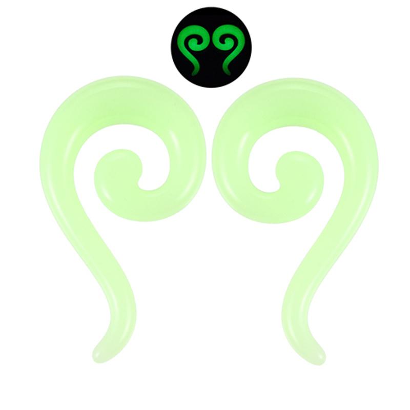 【楽天市場】[14G 12G 10G 8G 6G 4G 2G 0G ] グロウアクリルステッキ ボディピアス メンズ レディース 緑色...