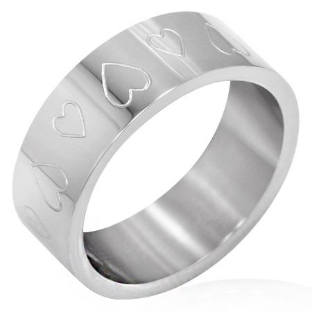 サージカルステンレスリングは普段使いにも最適な指輪 メニーハートステンレスリング RRR143 サイズ 20号 指輪 サージカルステンレス316L メンズ レディース ファランジリング 記念日 ギフト ペアリング プレゼント ピンキーリング 婚約 誕生日 結婚 マーケット セール 登場から人気沸騰