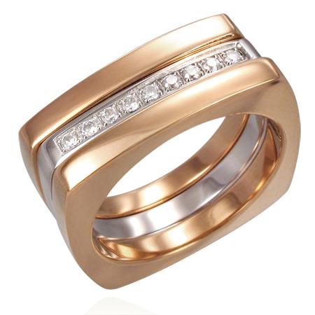 シンデレラピンクゴールドステンレスリング(SRV055)サイズ/20号 スクエア 四角 ジルコニア クリスタル 指輪 サージカルステンレス316L メンズ レディース ペアリング プレゼント ギフト 結婚 婚約 記念日 誕生日 ピンキーリング ファランジリング
