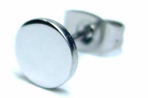 フラットステンレスピアス 1個販売 20G 20ゲージ 丸型 サークル 耳 軟骨 メンズ レディース サージカルステンレス ファーストピアス キャッチピアス スタッドピアス シングルピアス 片耳用 低アレルギー セカンドピアス シルバー色 銀色 画鋲 面白 ユニーク