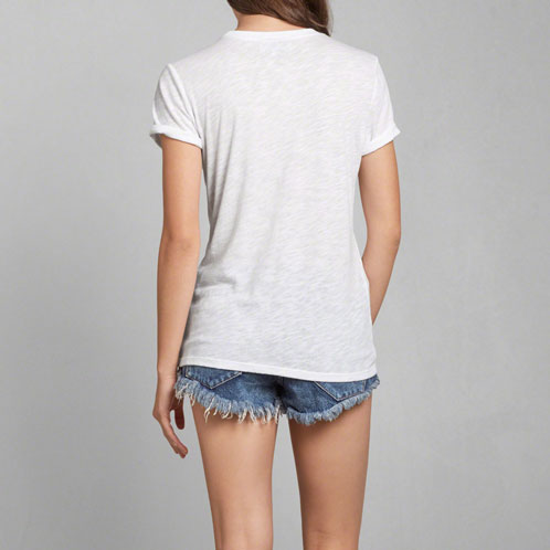 abakuro Abercrombie&Fitch正规的物品女士短袖T恤SCRIPT LOGO GRAPHIC TEE 157-584-1121-001