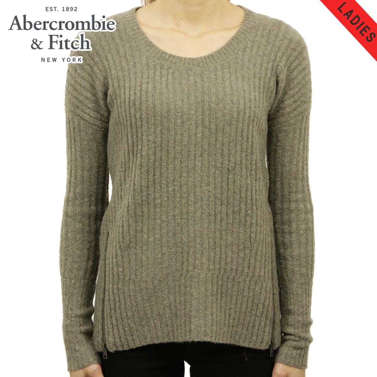 アバクロ セーター レディース 正規品 Abercrombie&Fitch RIBBED ZIP SWEATER 150-490-0662-400