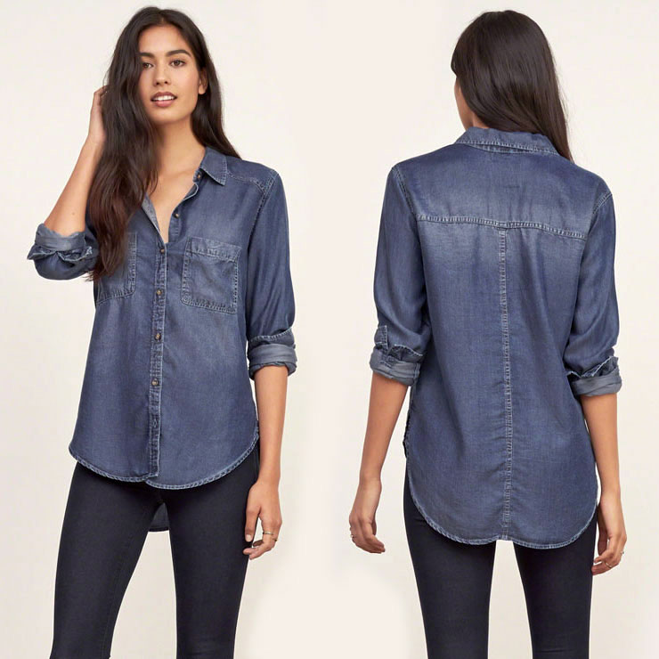 abercrombie and fitch denim shirt