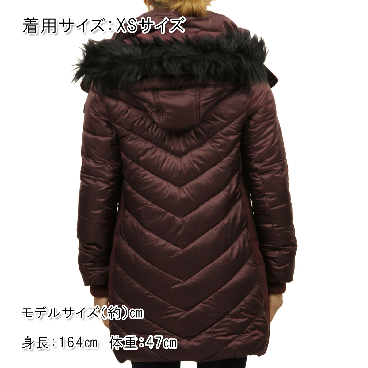 5ed73163d82 ... ABBA black Abercrombie & Fitch regular article Lady's outer QUILTED  NYLON PARKA 144-442 ...