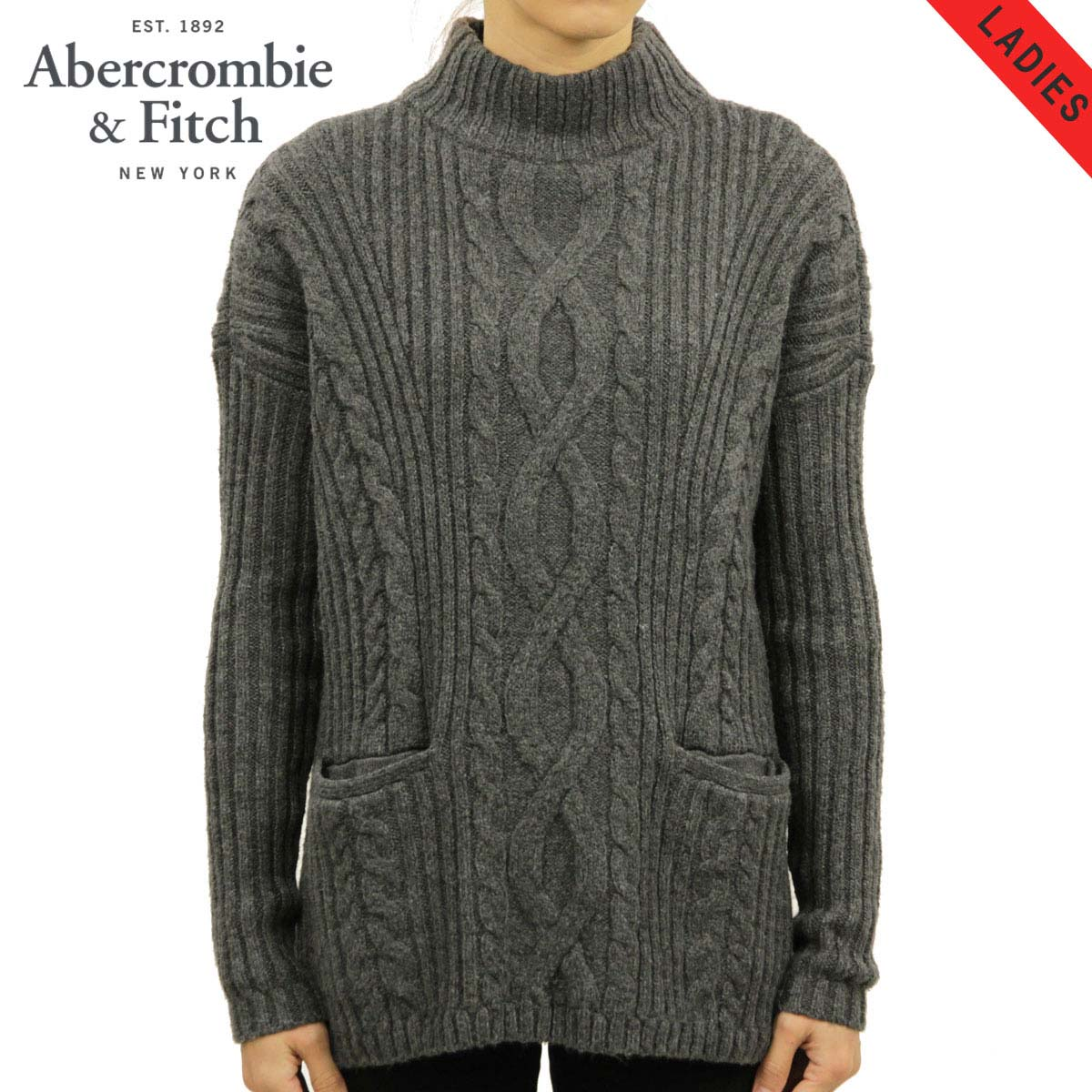 アバクロ Abercrombie&Fitch 正規品 レディース セーター BOXY CABLE TURTLENECK SWEATER 150-490-0797-122 D00S20