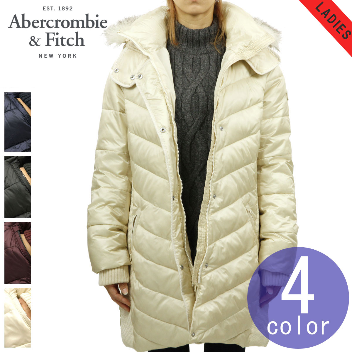 9dcf53d400b Quilting coat QUILTED NYLON PARKA with the ABBA black Abercrombie &  Fitch regular article Lady's ...