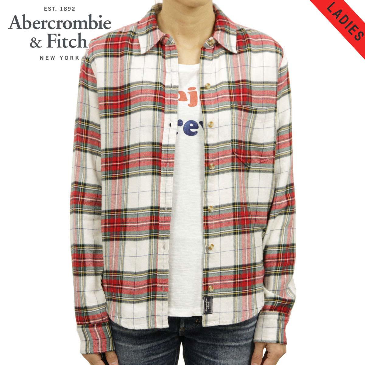 アバクロ Abercrombie&Fitch 正規品 レディース 長袖フランネルシャツ Flannel Shirt 140-412-2044-108