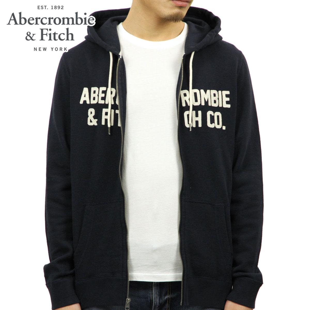 アバクロ Abercrombie&Fitch 正規品 メンズ ジップアップパーカー GRAPHIC FULL-ZIP HOODIE 122-232-0799-200
