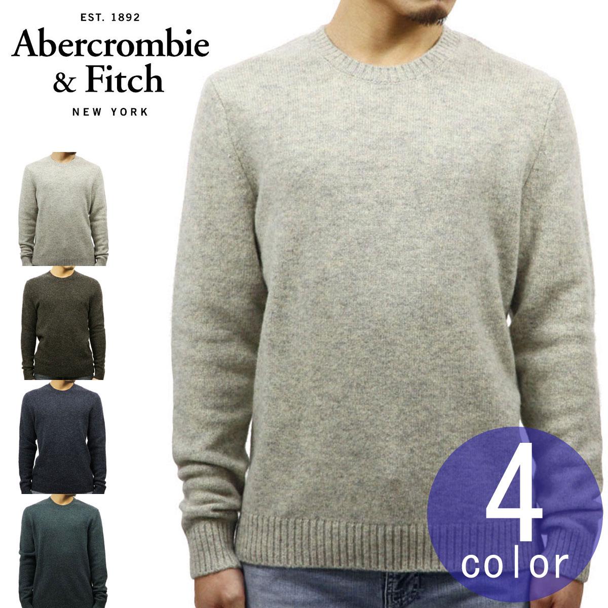 アバクロ Abercrombie&Fitch 正規品 メンズ クルーネックセーター WOOL FUZZY CREW SWEATER