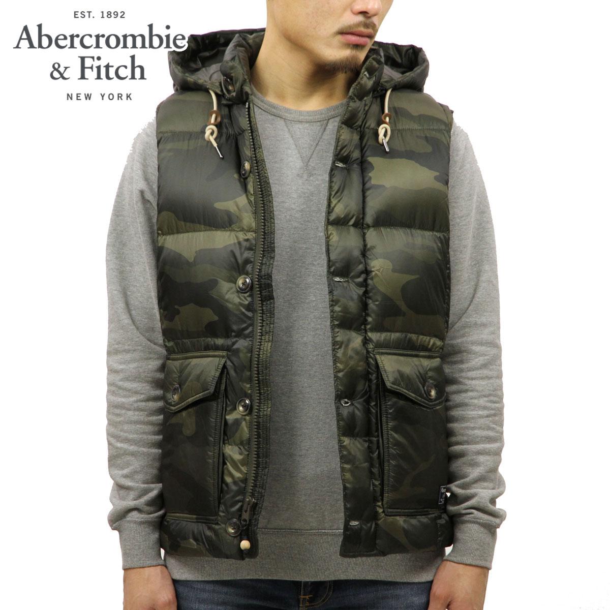 アバクロ Abercrombie&Fitch 正規品 メンズ フード付きダウンベスト DOWN-FILLED PUFFER VEST 132-328-1267-330