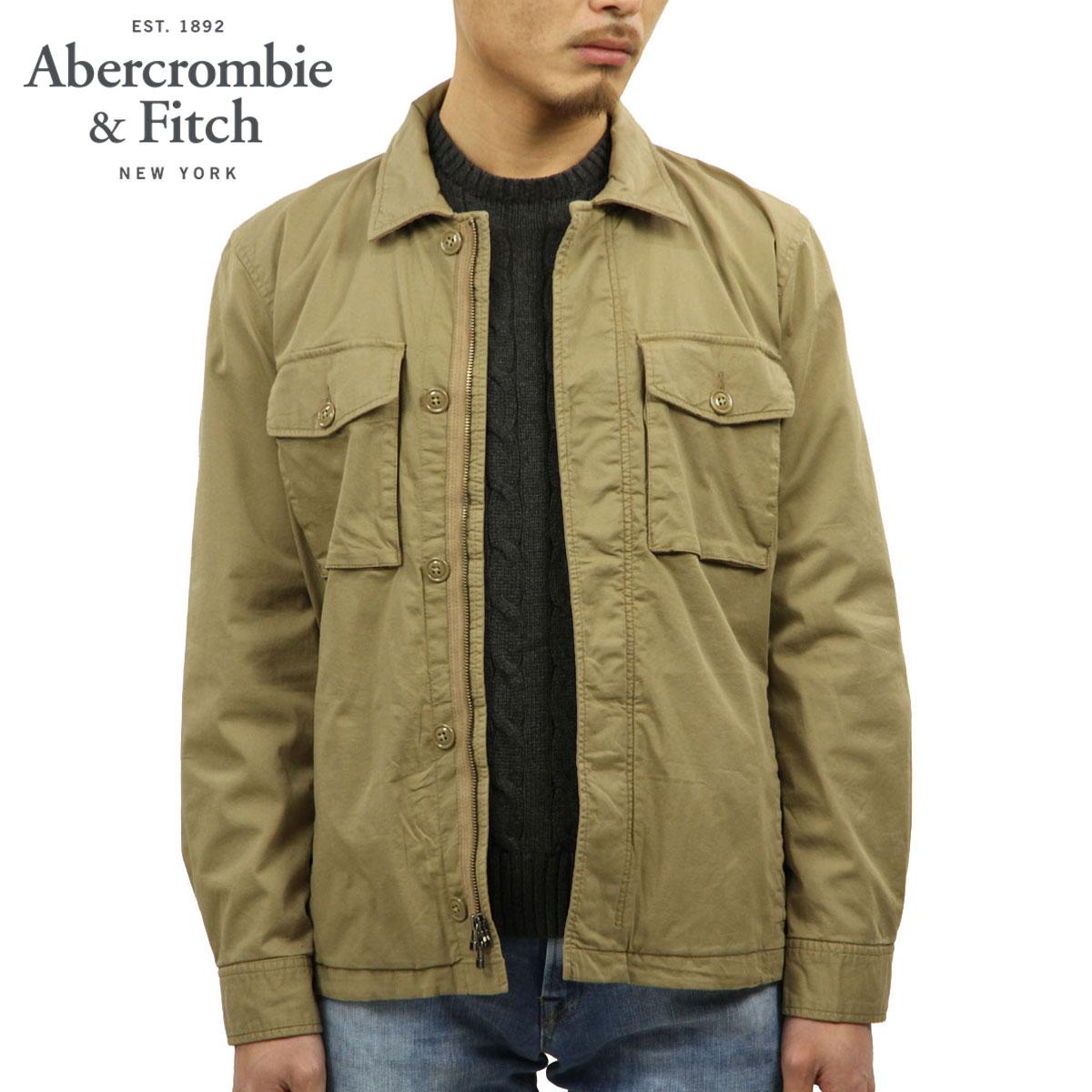 アバクロ Abercrombie&Fitch 正規品 メンズ シャツジャケット GARMENT DYE ZIP-UP SHIRT JACKET 132-328-1197-400