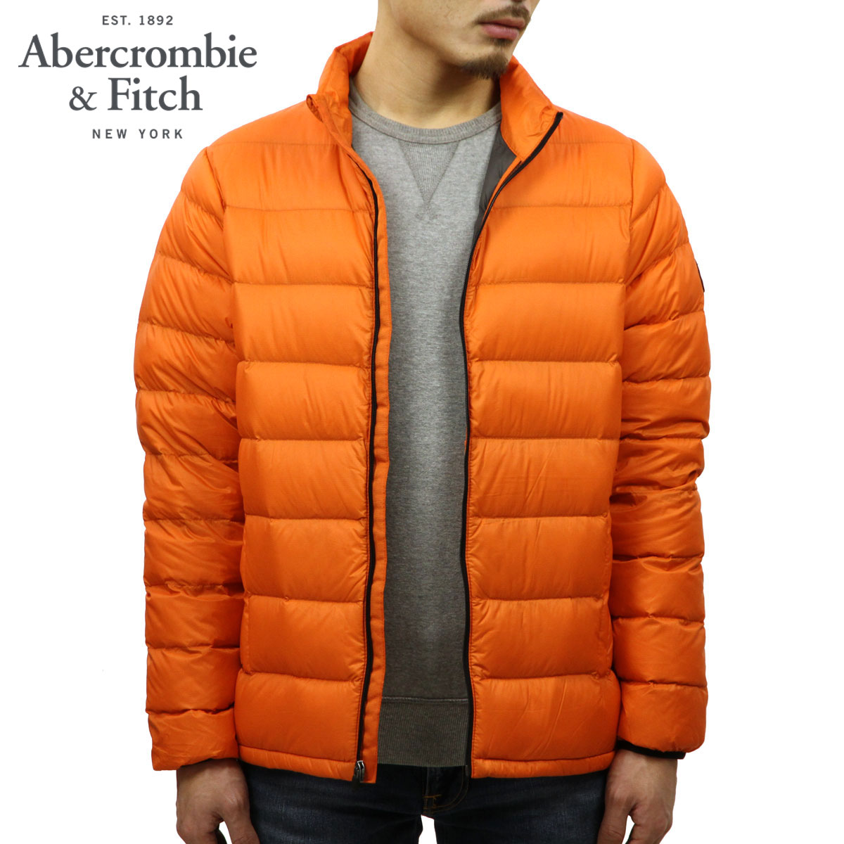 f1ad227aa ABBA black down jacket men's regular article Abercrombie & Fitch outer  jacket LIGHTWEIGHT DOWN-FILLED PACKABLE PUFFER 132-328-1156-700